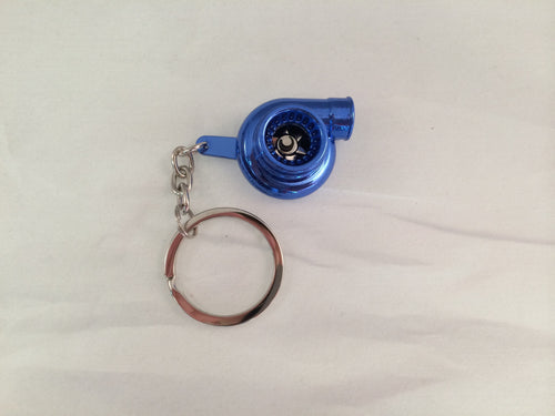 Spinning Turbo Keychain - Gloss Blue