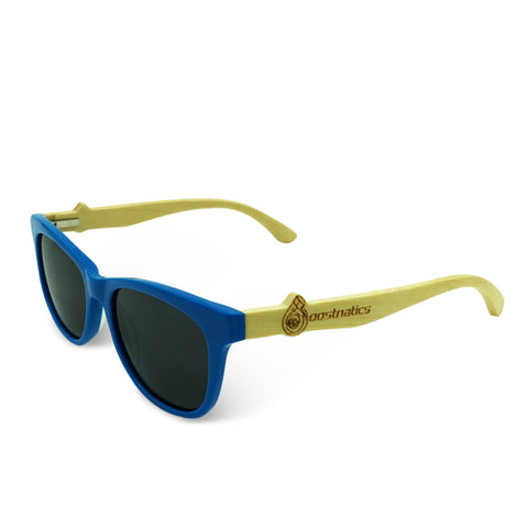 Boostnatics Bamboo Boosted Turbo Shades - Blue / Polarized Black