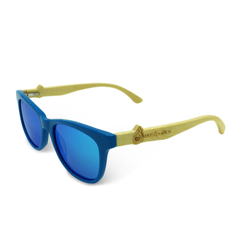 Boostnatics Bamboo Boosted Turbo Shades - Blue / Polarized Ice Blue