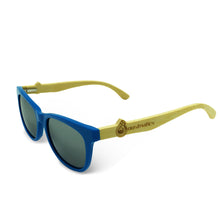 Boostnatics Bamboo Boosted Turbo Shades - Blue / Polarized White