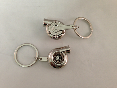 Spinning Turbo Keychain - Chrome