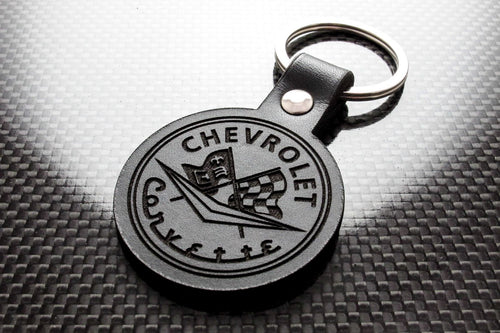 Leather Keychain for Chevrolet Corvette Classic