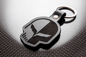 Leather Keychain for Chevrolet Corvette Skull