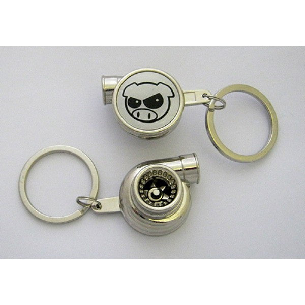 Spinning Turbo Keychain - Drift Pig Logo