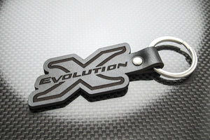 Leather Keychain Keyring for Mitsubishi Lancer Evo X