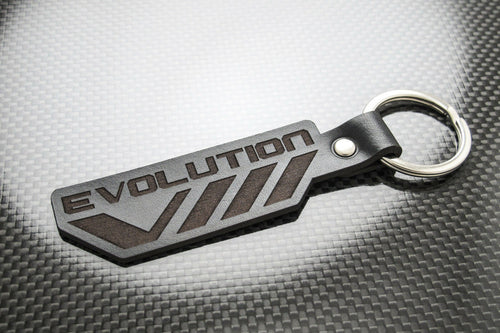 Leather Keychain Keyring for Mitsubishi Lancer Evo VIII