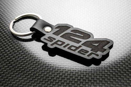Leather Keychain for FIAT 124 Spider (Logo)