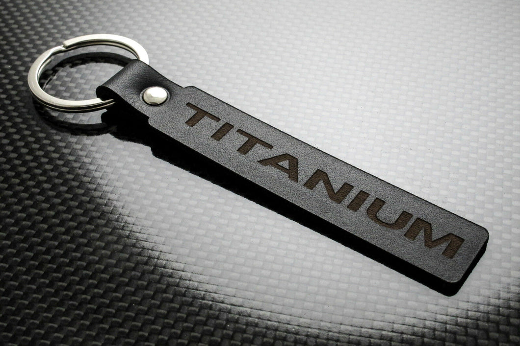 Leather Keychain for Ford Titanium