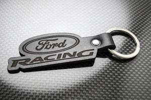 Leather Keychain for Ford Racing