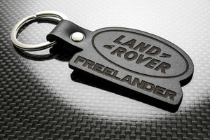 Leather Keychain Keyring for Land Rover Freelander