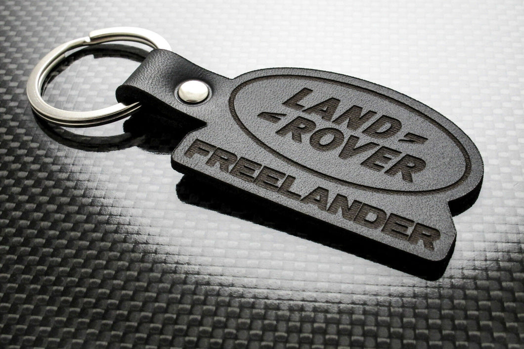Leather Keychain for Land Rover Freelander