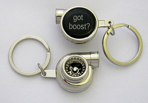 Spinning Turbo Keychain - Got Boost? Logo