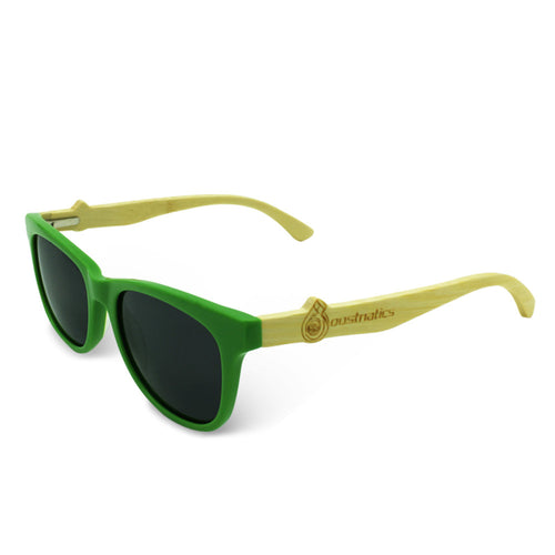 Boostnatics Bamboo Boosted Turbo Shades - Green / Polarized Black