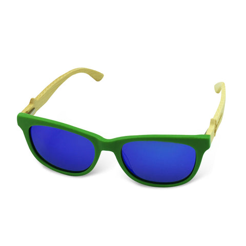 Boostnatics Bamboo Boosted Turbo Shades - Green / Polarized Blue