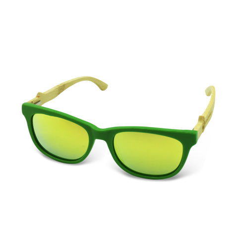 Boostnatics Bamboo Boosted Turbo Shades - Green / Polarized Gold