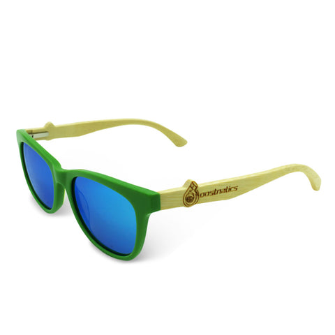 Boostnatics Bamboo Boosted Turbo Shades - Green / Polarized Ice Blue