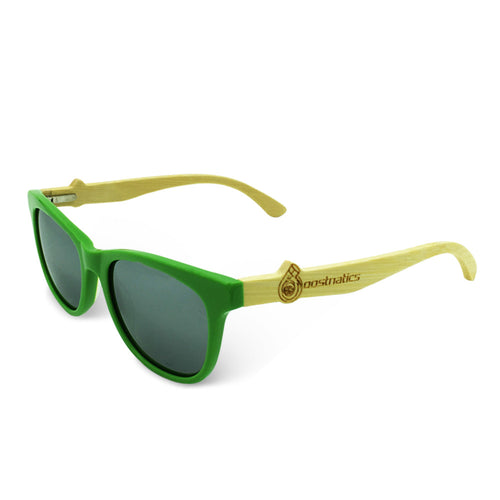 Boostnatics Bamboo Boosted Turbo Shades - Green / Polarized White
