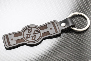 Leather Keychain for FR-S, BRZ, FT86, GT86 (Engine)