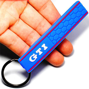 Silicone Honeycomb Keychain Keyring for VW Golf GTI