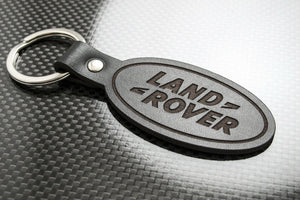 Leather Keychain Keyring for Land Rover (Symbol)