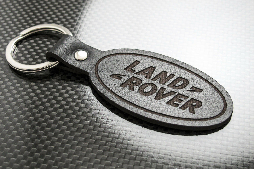 Leather Keychain for Land Rover (Symbol)