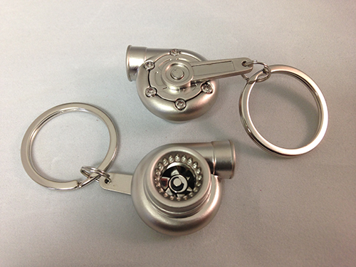 Spinning Turbo Keychain - Silver
