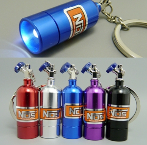 NOS LED Bottle Keychain