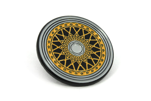 RS Wheel Enamel Pin