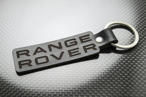 Leather Keychain Keyring for Range Rover