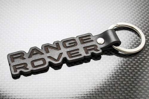 Leather Keychain Keyring for Range Rover (Die Cut)