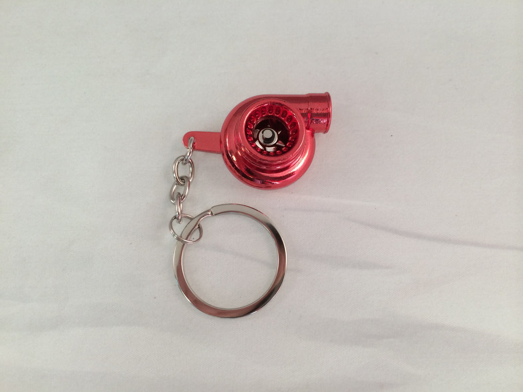 Spinning Turbo Keychain - Gloss Red