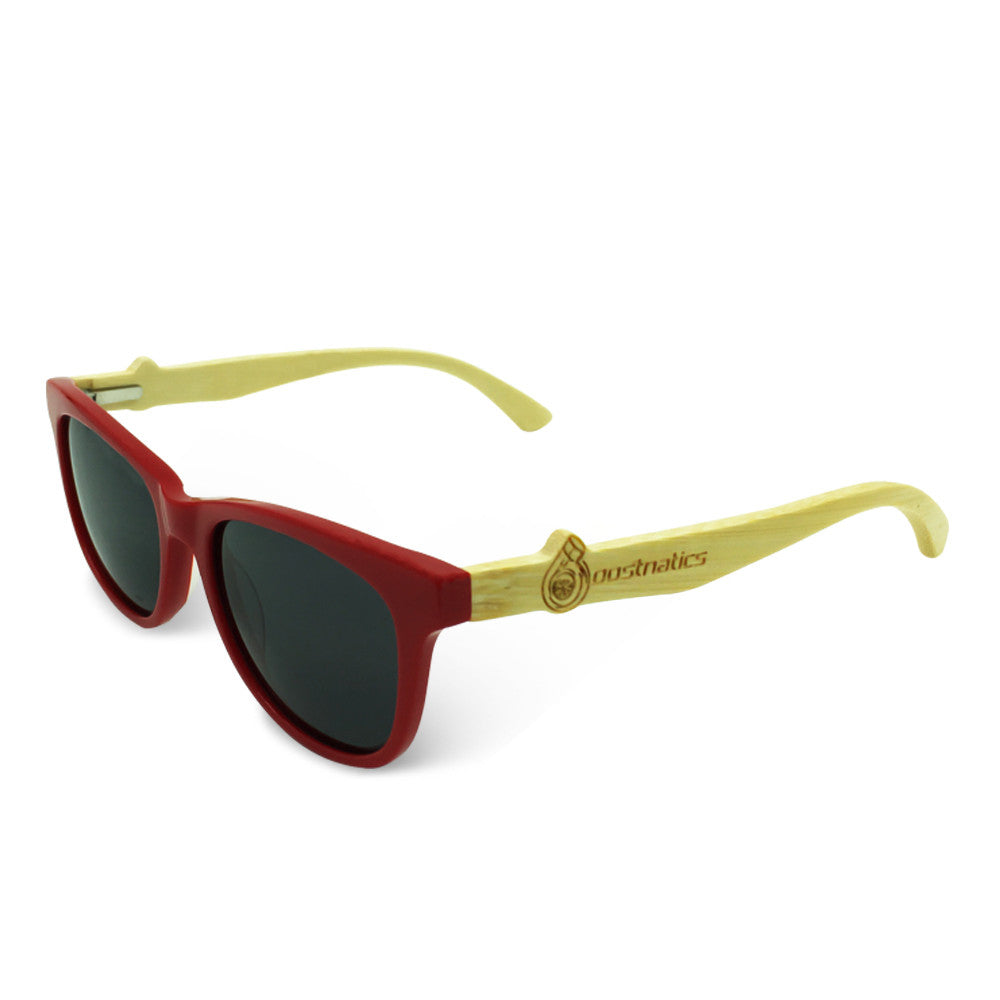 Boostnatics Bamboo Boosted Turbo Shades - Red / Polarized Black