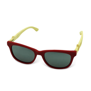 Boostnatics Bamboo Boosted Turbo Shades - Red / Polarized White