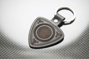 Leather Keychain for Mazda Rotary Rotor