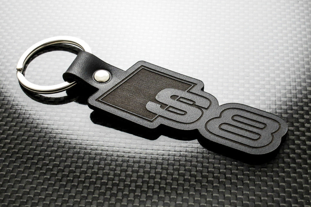Leather Keychain for Audi S8
