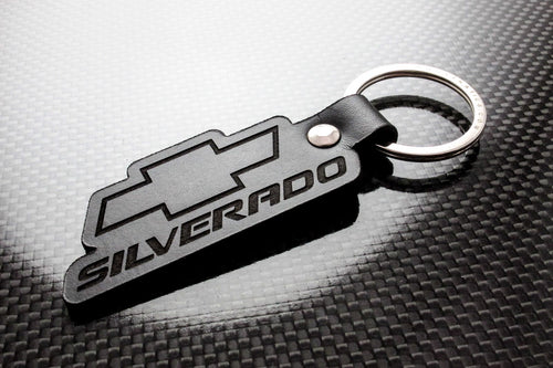 Leather Keychain for Chevrolet Silverado