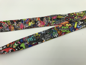 Sticker Bomb Quick Release Lanyard Neck Strap