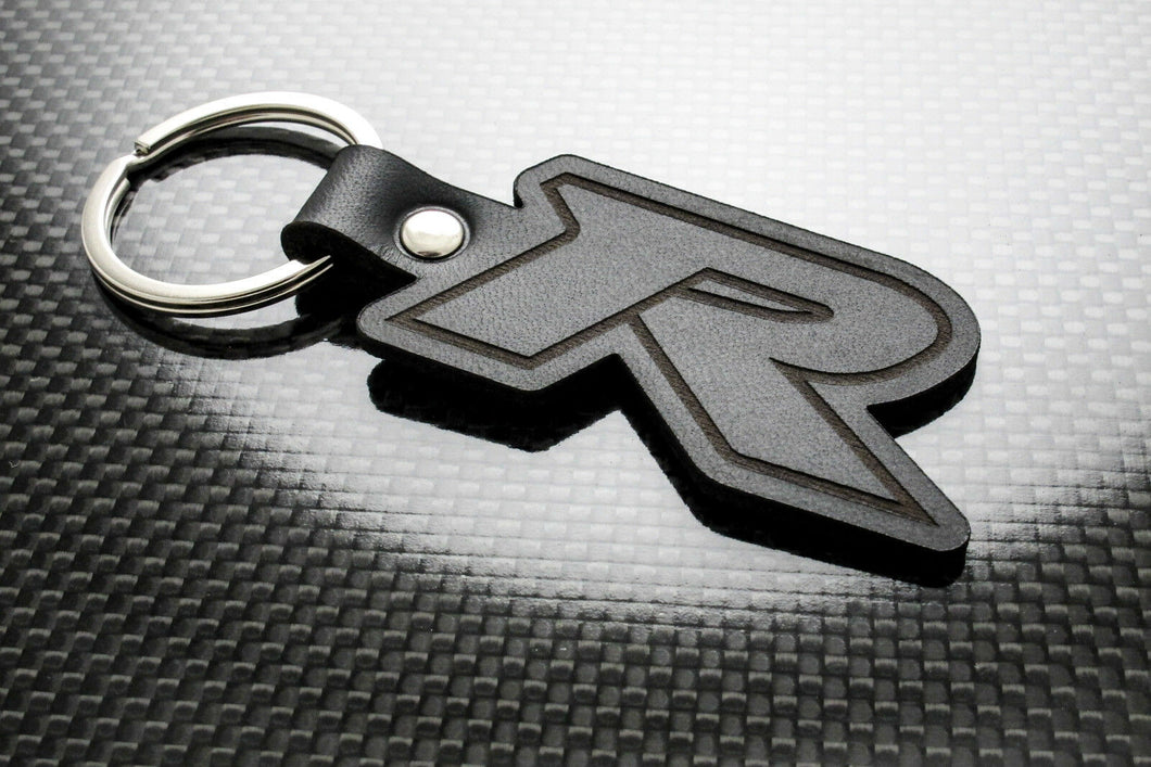 Leather Keychain for Honda Civic Type-R (Symbol)