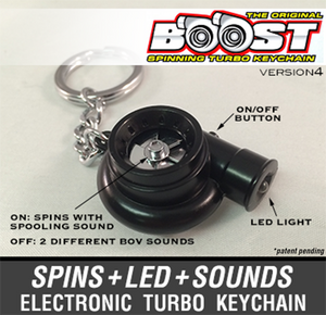 Boostnatics Electronic Turbo Keychain V4 - Black