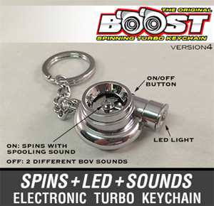 Boostnatics Electronic Turbo Keychain V4 - Chrome