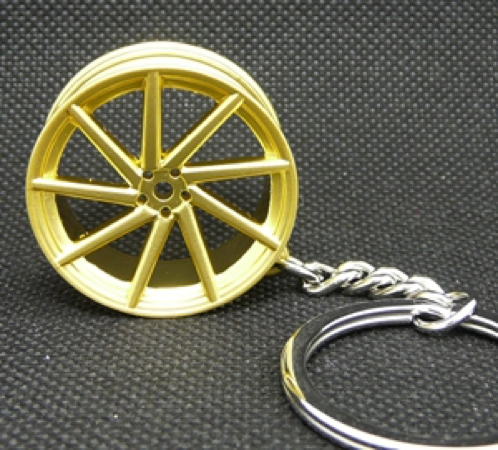 Vossen CVT Wheel Keychain - Gold