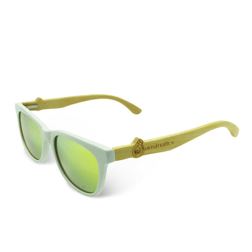 Boostnatics Bamboo Boosted Turbo Shades - White / Polarized Gold