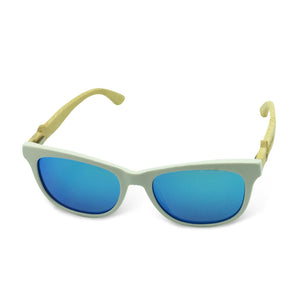 Boostnatics Bamboo Boosted Turbo Shades - White / Polarized Ice Blue