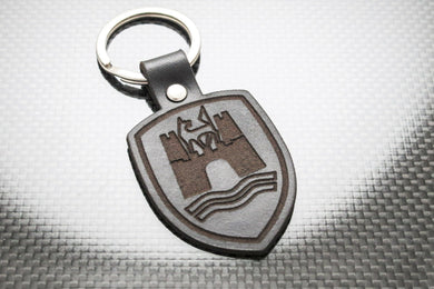 Leather Keychain for Volkswagen VW Wolfsburg