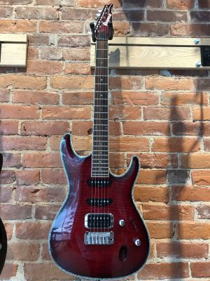 Ibanez SA360 FM Transparent Red