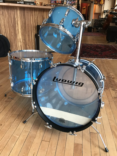 Ludwig Vistalite Blue 70's Drums