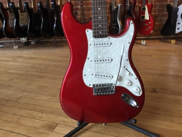 Fender Starcaster Strat Electric Guitar Red Sparkle