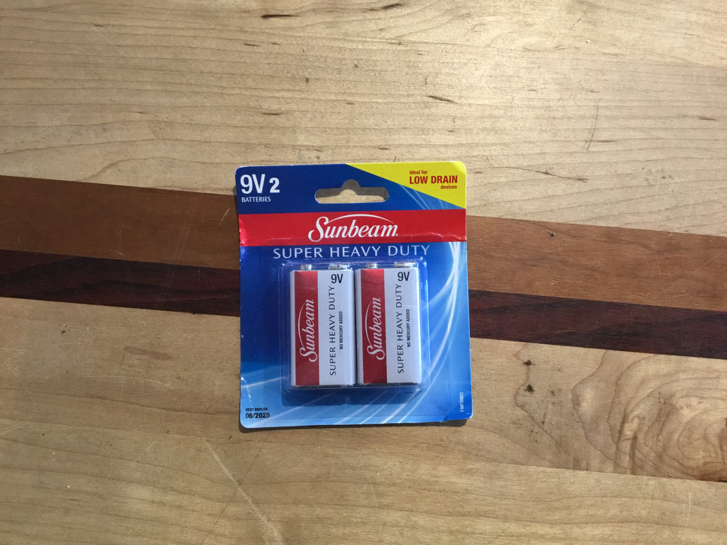 9V Batteries - 2 pack