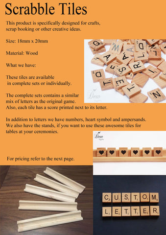 10 x custom letters scrabble tiles great for weddings and other ceremonies choose your