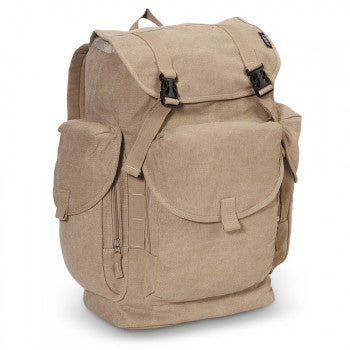 Wholesale Khaki Canvas Backpack - Large Cheap 1f5823389bf5